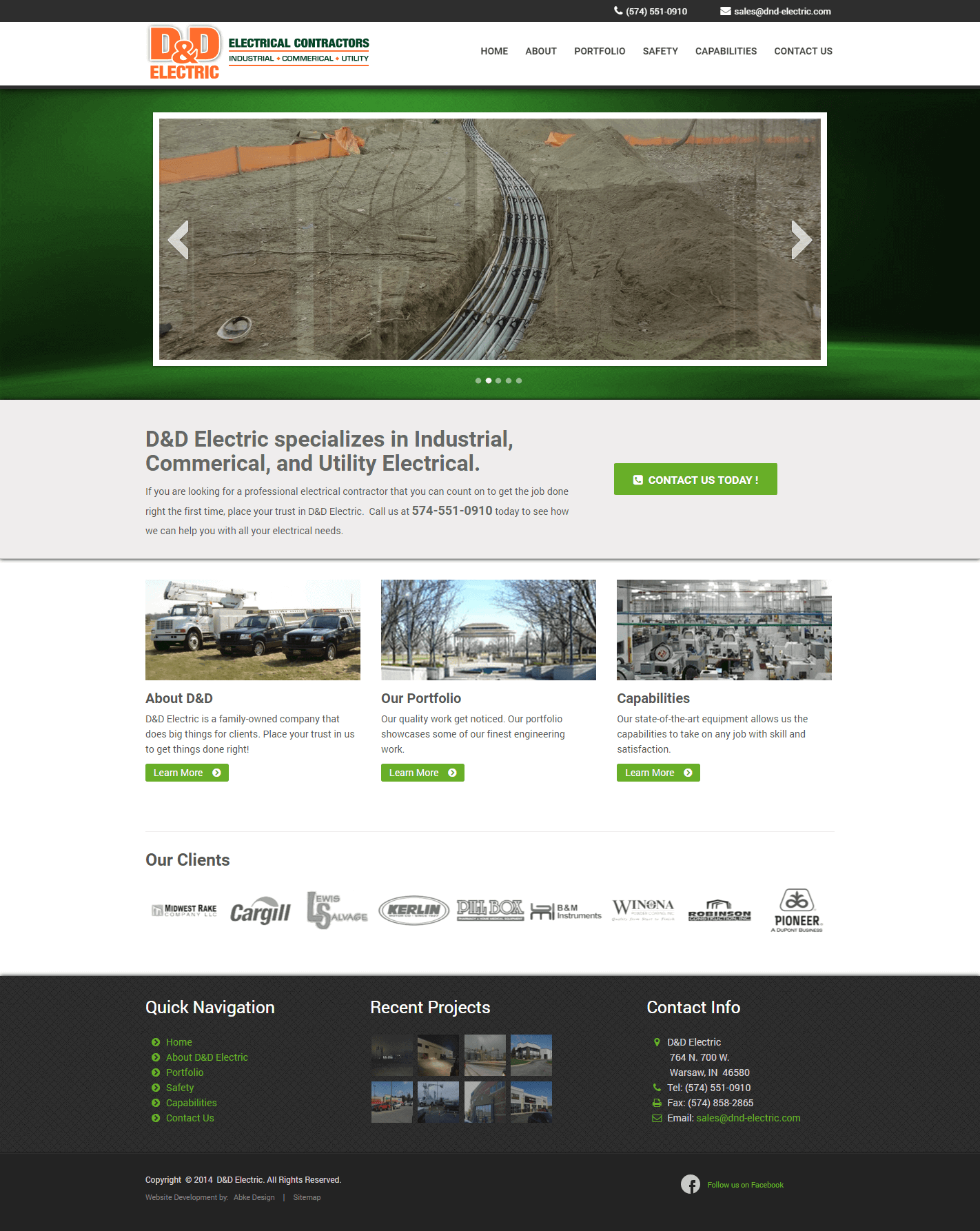 DND Electric - Website Design & Development by Abke Design
