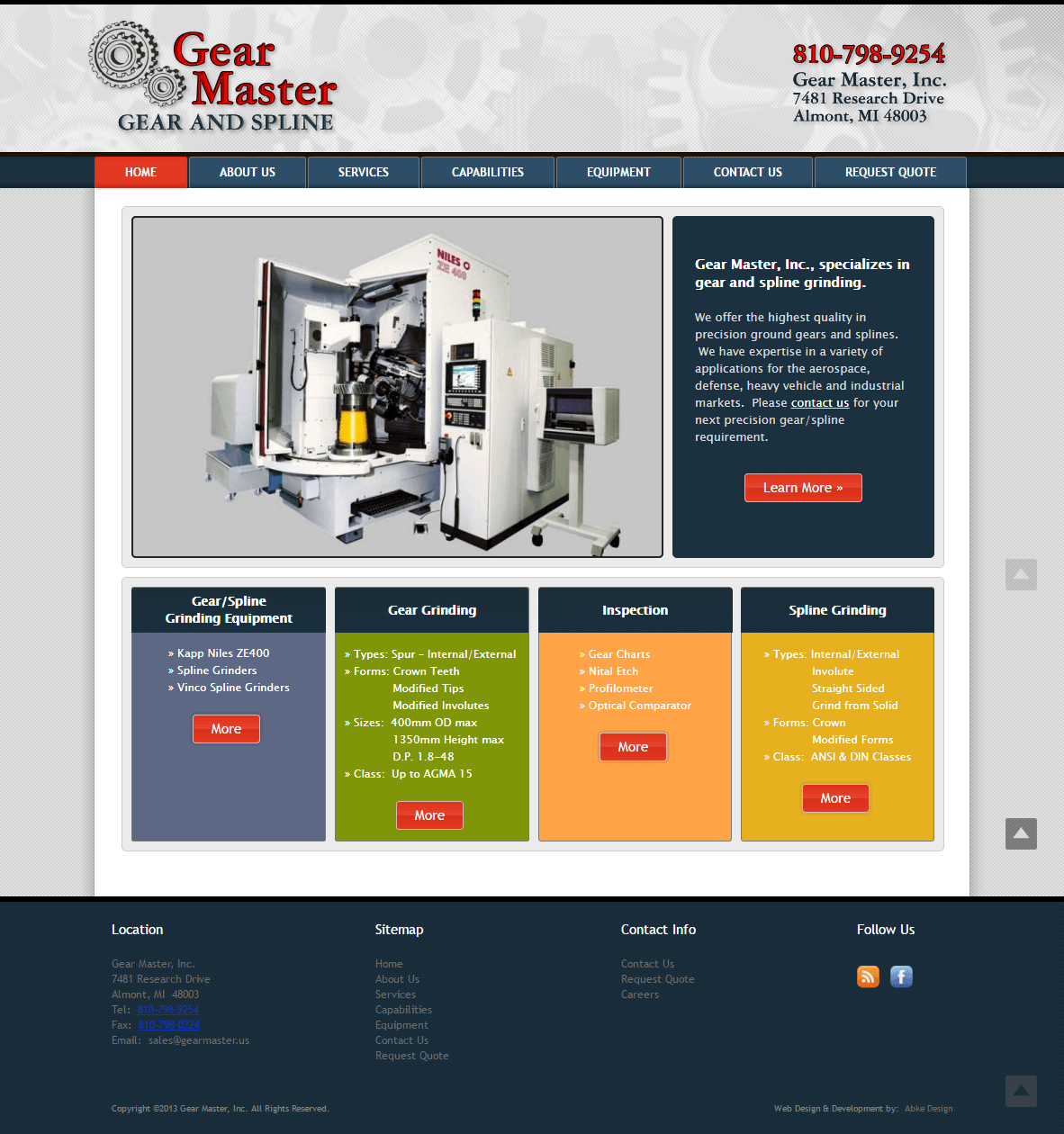 Gear Master - Website Design & Development by Abke Design
