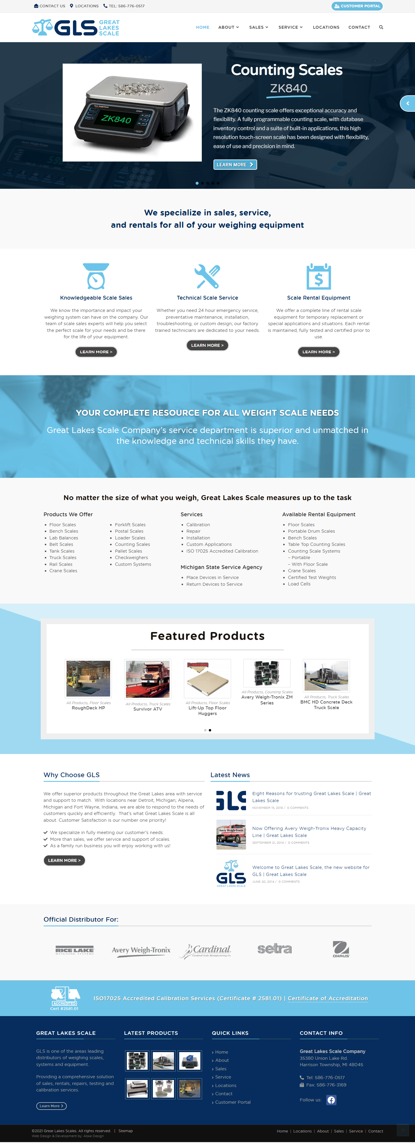 Great Lakes Scale - WordPress Web Design by Abke Design