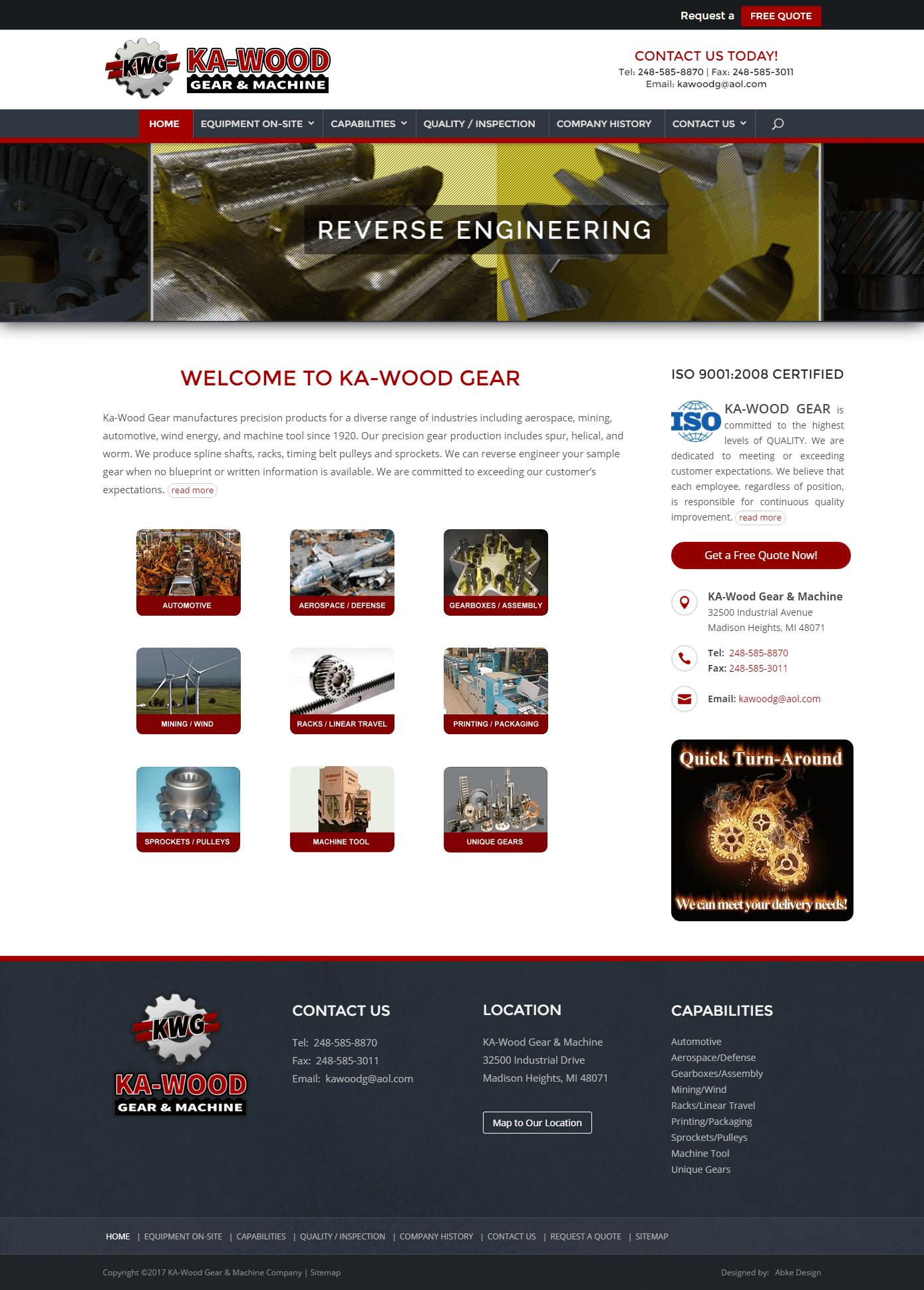 KA Wood Gear - Website Design & Development by Abke Design