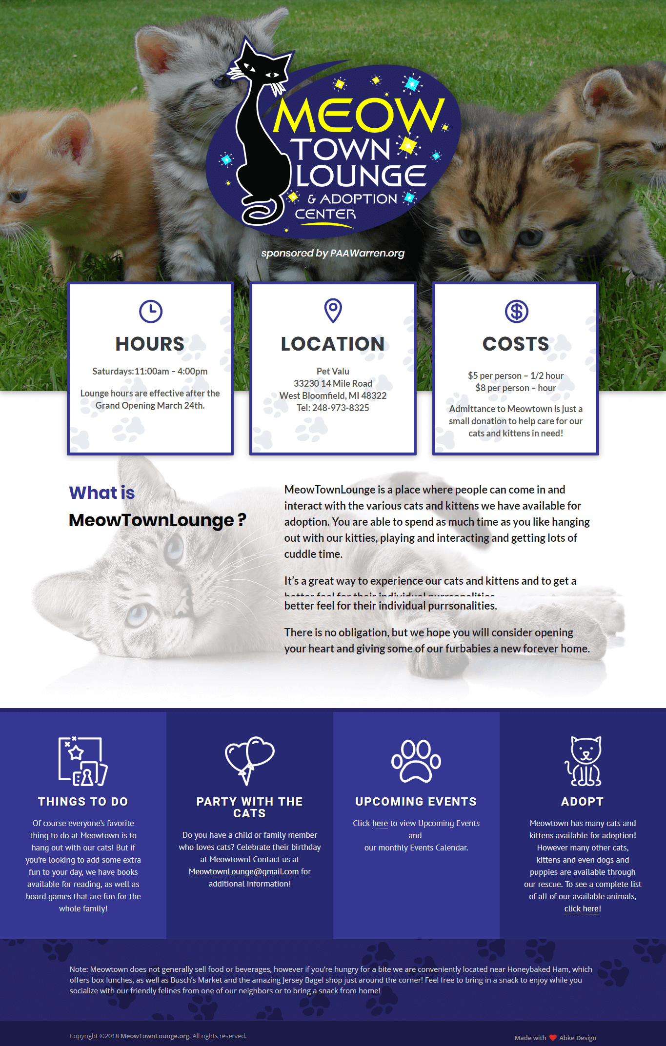 Meow Town Lounge - Web Design & Development in Michigan