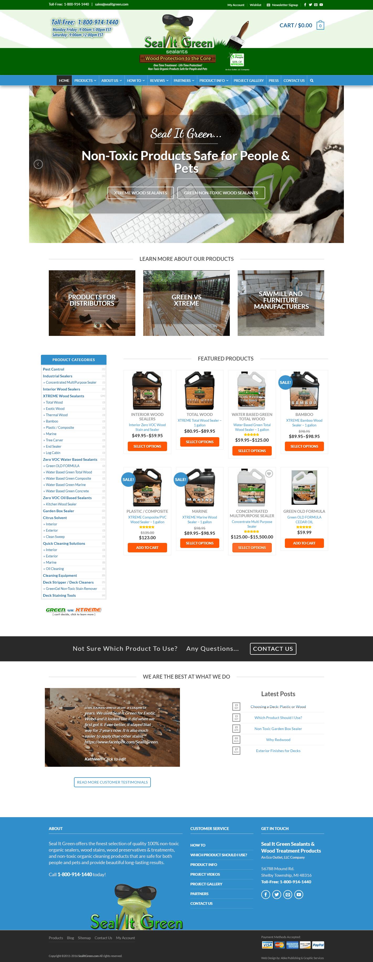Seal It Green Sealants - Website Design & Development by Abke Design
