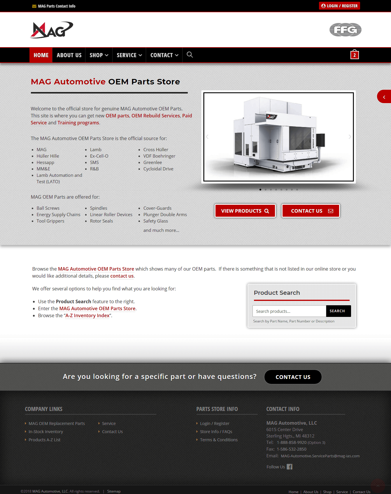 MAG Automotive - OEM Parts Store - Website Design & Development by Abke Design